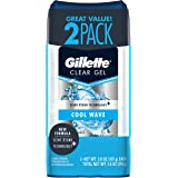 Gillette Endurance Antiperspirant/Deodorant, Cool Wave Clear Gel, 3.8 Ounce (Pack of 2), Packaging may Vary