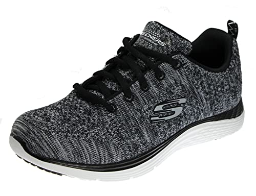 Skechers Women's Valeris Gracious Life Fashion Sneaker, Black/White, ...
