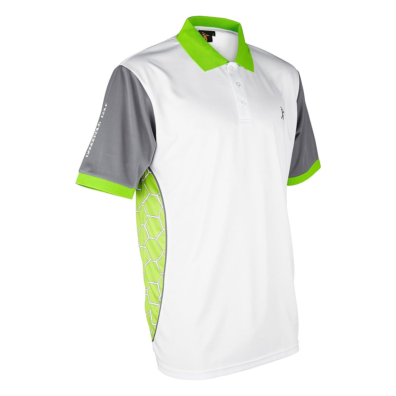Polo de Golf Parbuster V-II, Color Blanco y Verde Lima, tamaño 5XL ...