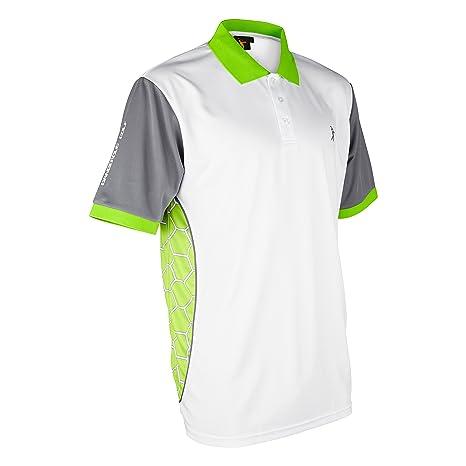 Polo de Golf Parbuster V-II, Color Blanco y Verde Lima, tamaño ...