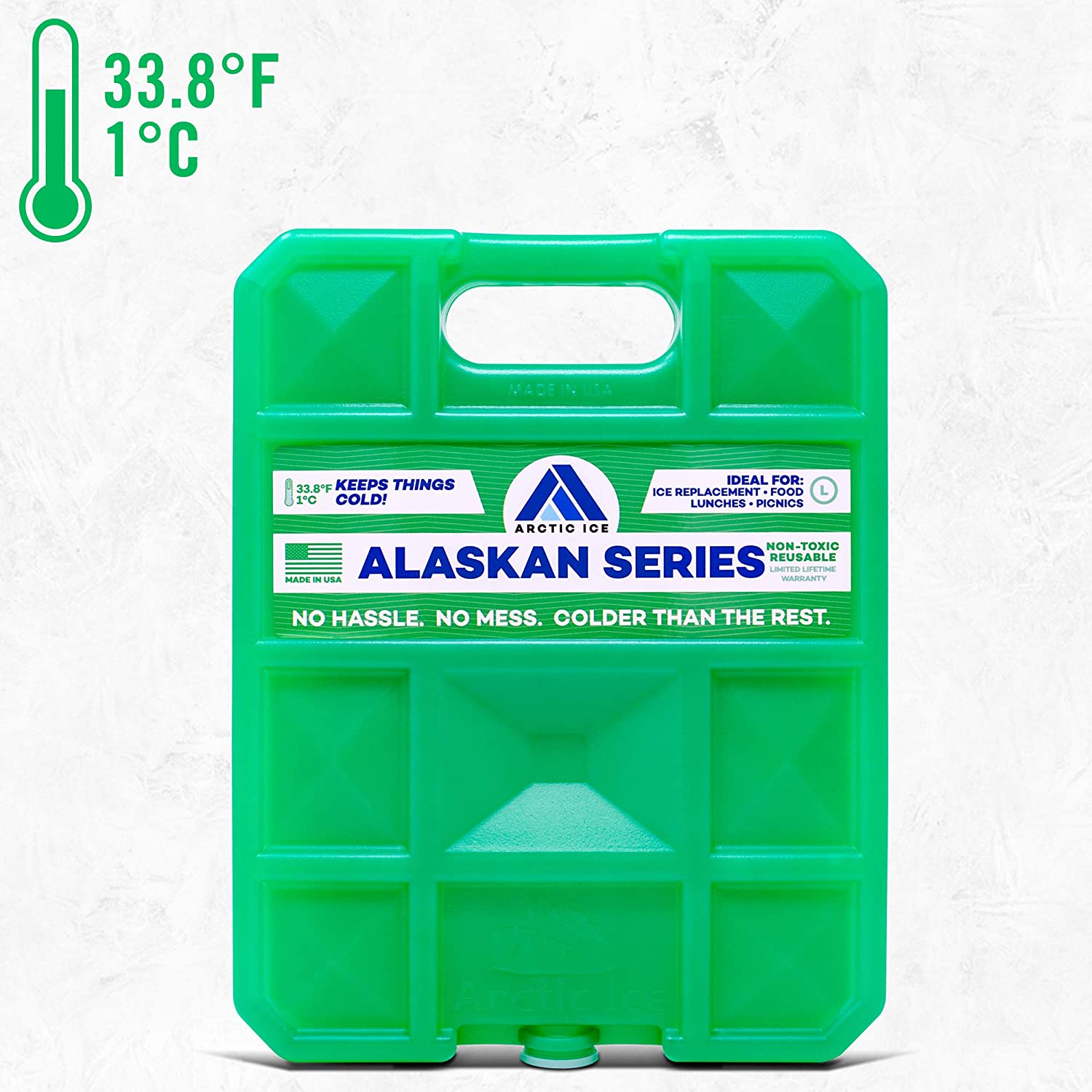 ARCTIC ICE Alaskan Series Freezer Packs, 2.5 lb, Green