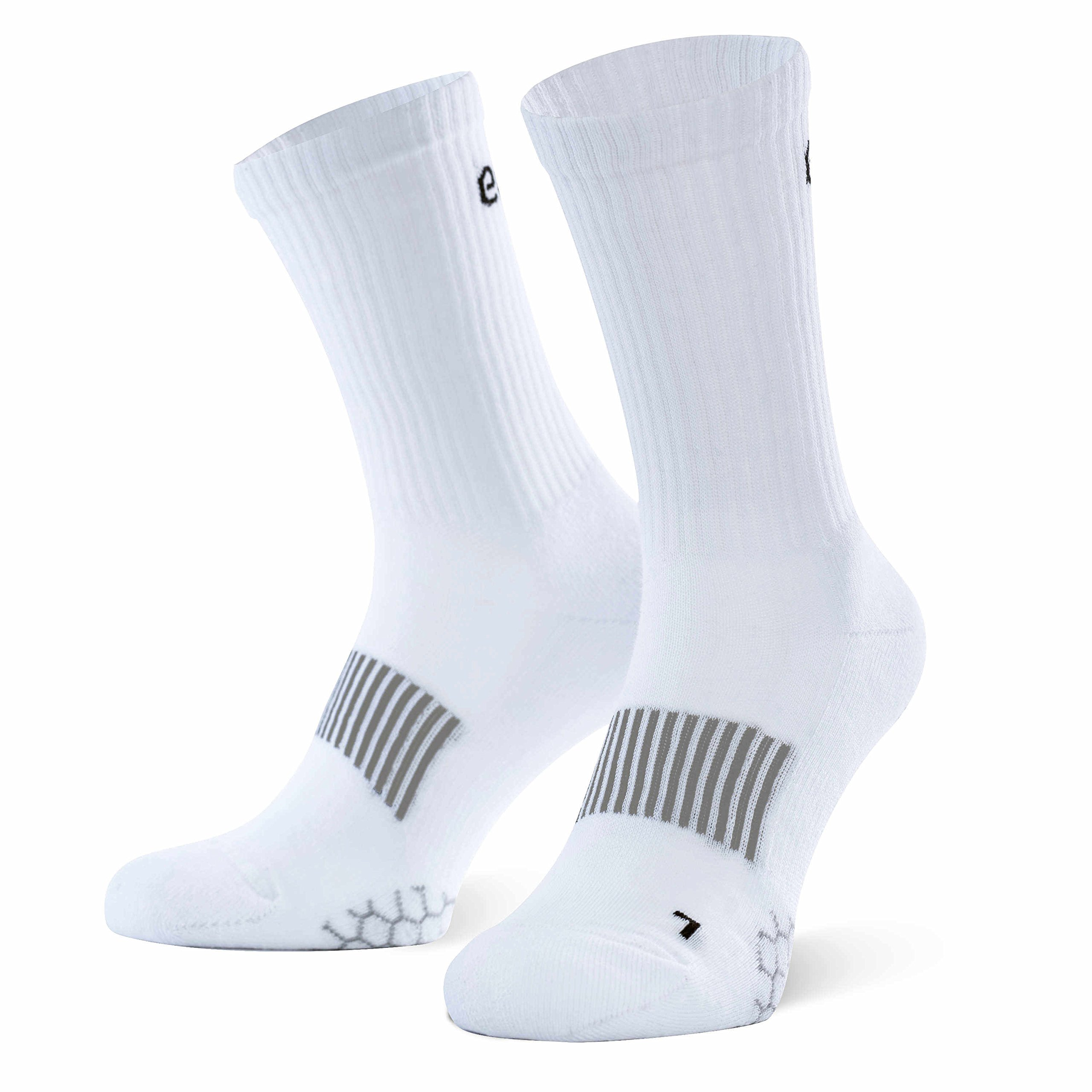 Eono Essentials - Calcetines deportivos (pack de 3), unisex, color: Blanco