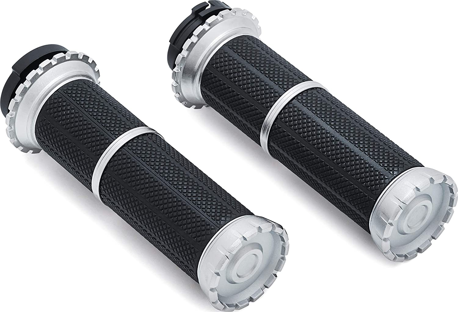 Electronic Throttle Control: 2008-19 Harley-Davidson Motorcycles Satin Black 1 Pair Kuryakyn 3583 Riot Handlebar Grips for Throttle and Clutch