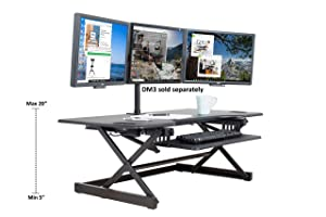 """Rocelco 46"""" Height Adjustable Standing Desk Converter 