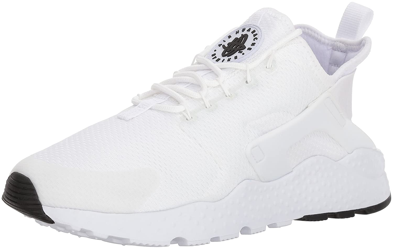 NIKE Women's Air Huarache Run Ultra Running Shoe B01N30MY5P 10 B(M) US|White / White-white-black