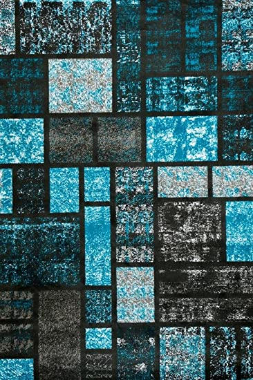 turquoise area rug modern carpet large new - Turquoise Area Rug