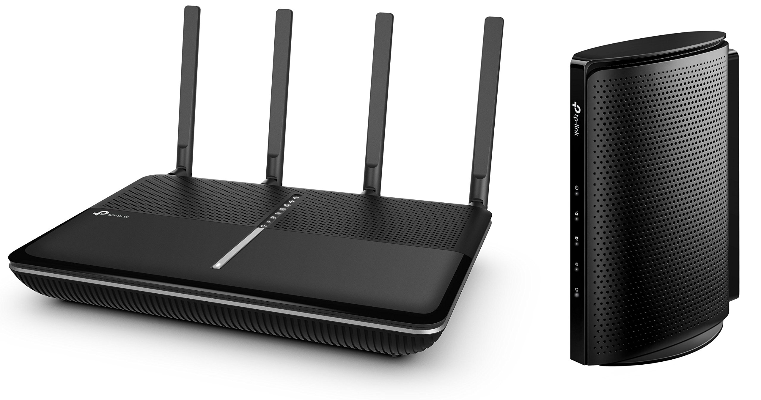 TP-Link Upgrade to a Faster, More Secure Wi-Fi Bundle: Archer C3150 V2 MU-MIMO Wireless Router w/ Comprehensive Antivirus and Security and TC7650 (24x8) DOCSIS 3.0 High Speed Cable Modem