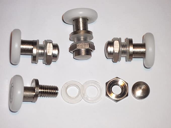 Juego de soportes para mampara de ducha de 8 AM10 - 25-8: Amazon.es: Bricolaje y herramientas