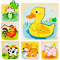 Smiles and Clouds Toddler Puzzle Wooden Puzzles 1-3 Montessori Educational Toys Toddlers 1 2 3 Year Old Boys Girls 6…