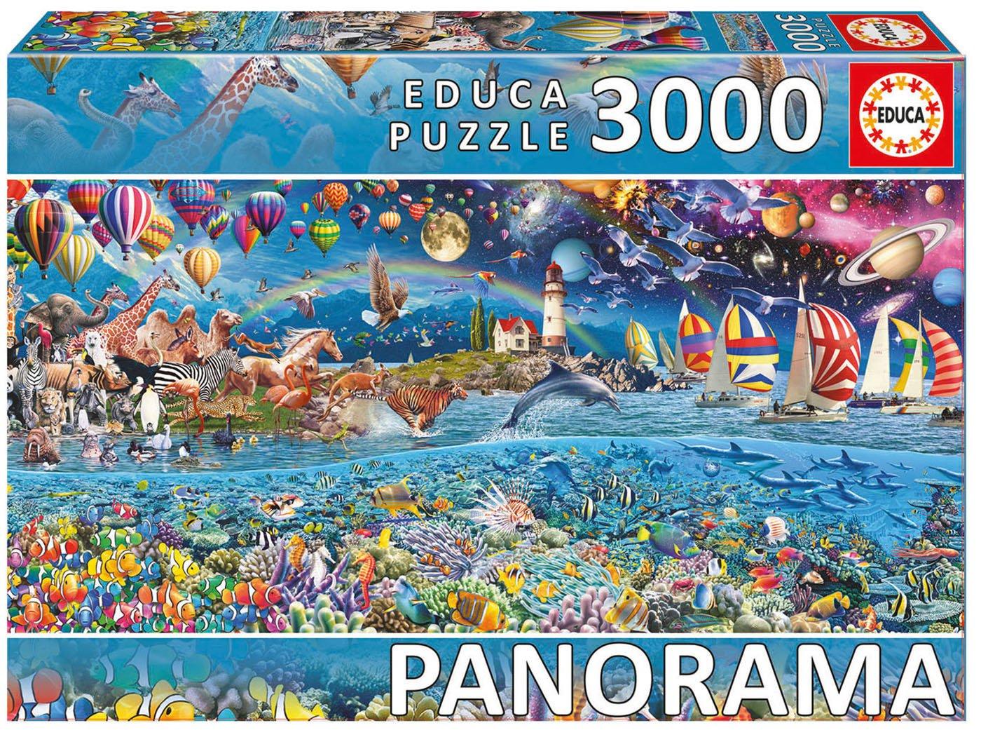 Educa Borrás - 17131.0 - Puzzle - Manhattan - 3000 Pièces
