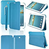 """HOTSALEUK Samsung Galaxy Tab 3 7.0 7-inch Book Cover Case Leather Stand, Bonus: Screen Protector + Stylus Pen (for Galaxy Tab 3 7"""" INCH P3200/ P3210, WiFi or 3G+WiFi), byhotsaleukStore®, Seller of Best Selling Galaxy Tab 2 7-inch Case (BLUE)"""