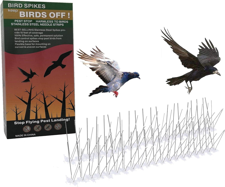 Bird Spikes Stainless Steel12 Feet (3.6 Metre) Spike Bird, Pigeon Spikes,Reusable,and Eco Friendly