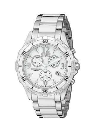 4c4323664 Amazon.com: Citizen Women's Eco-Drive Chronograph Watch with Diamond Accents,  FB1230-50A: Citizen: Watches