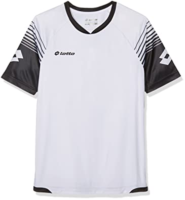 Lotto Omega Jr - Camiseta para niño, Color Blanco/Negro, Talla XL: Amazon.es: Zapatos y complementos