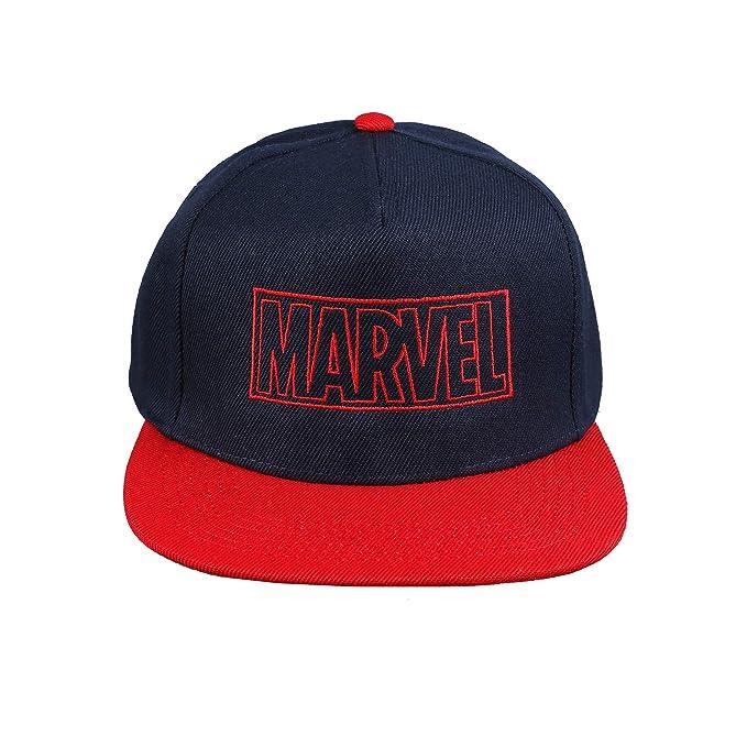 Marvel Line Logo Gorra de béisbol, Azul (Navy/Red Nrd), Talla ...