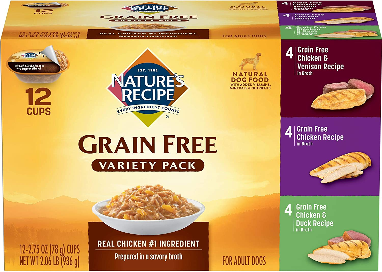 Nature's Recipe Original Chicken, Vension, Duck Recipe Variety Pack Wet Dog Food