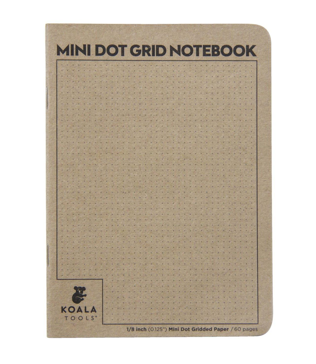 Koala Tools Mini Dot-Grid Notebook, 5 x 7 Inches, 60 Sheets, Pack of 24