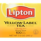 Lipton Yellow Label Tea Bags 100ct, 1 pack