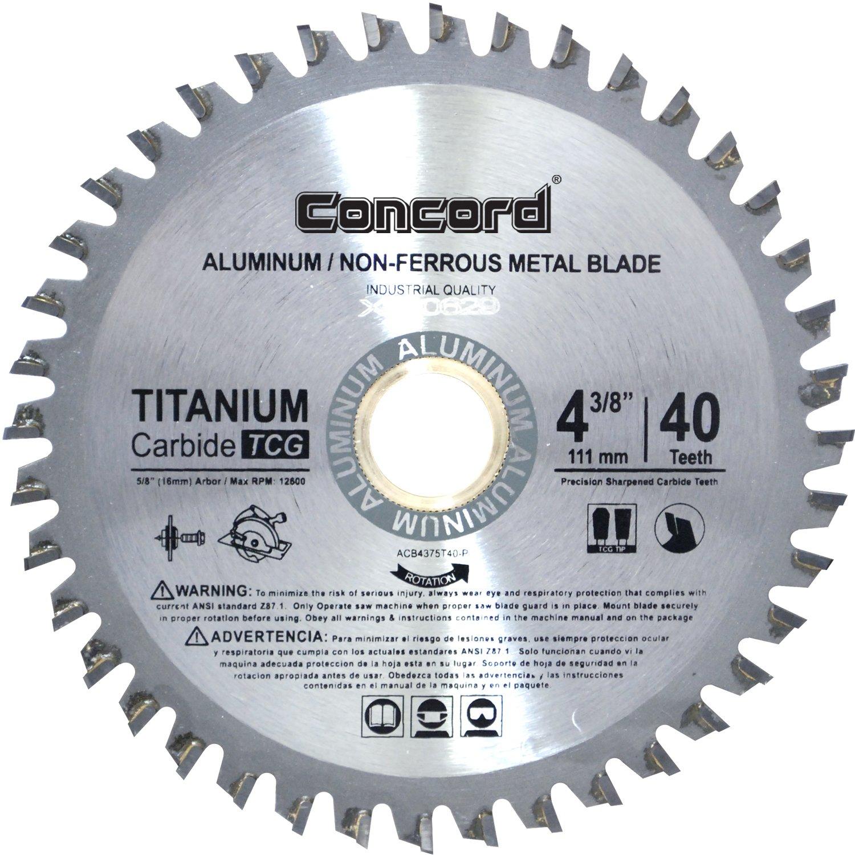 Concord Blades ACB0438T040HP 4-3/8-Inch 40 Teeth TCT Non-Ferrous Metal Saw Blade