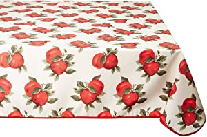 "Violet Linen Euro Apples Classic Euro Apples Large Apples Design Vl-68851-Euro-Apples-2 Classic Euro Apples Tablecloth with Large Apples Design, 52"" X 70"","