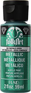 product image for FolkArt Metallic Acrylic Paint in Assorted Colors (2 oz), 653, Emerald Green
