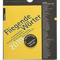 Fliegende Wörter 2019.: 53 Qualitätsgedichte zum Verschreiben und Verbleiben. Postkartenkalender