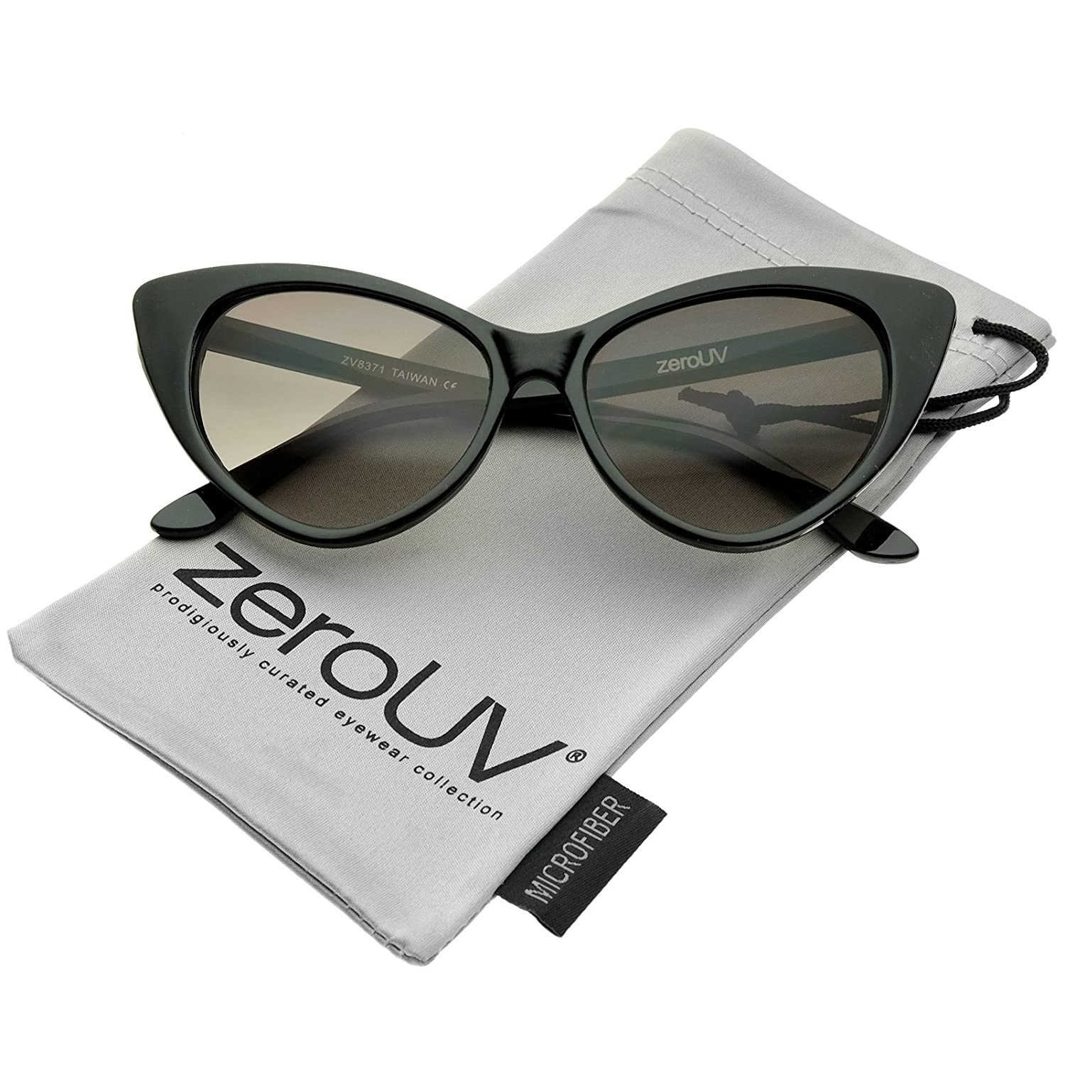 e7aeb2de877 Retro Inspired Frame Bold High Point Cat Eye Silhouette Stylish High  Sitting Temples Neutral-Colored Teardrop Lens
