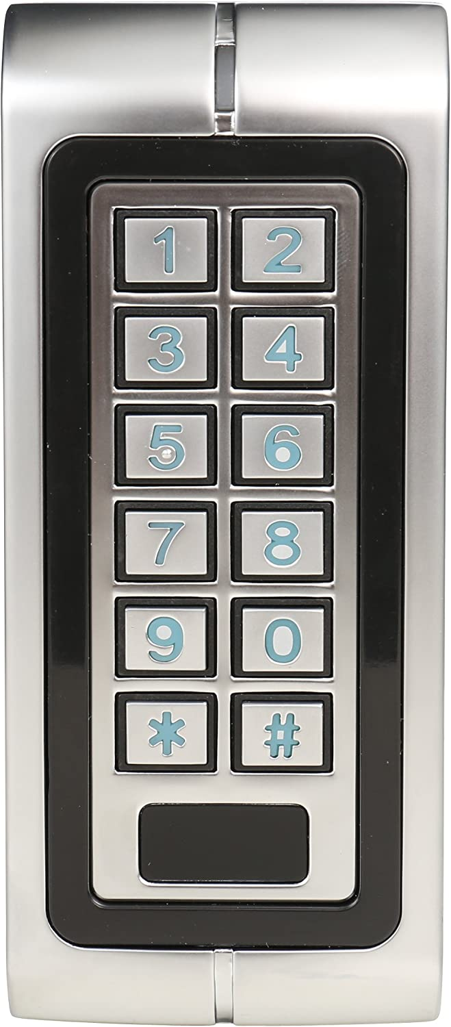 Backlight Keypad Metal Waterproof Standalone Access Control With Wiegand 26 Bit Feature  Camera & Photo