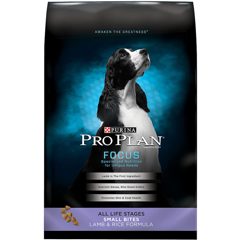 18lb Purina Pro Plan Dry Dog Food, Focus, Small Bites Lamb & Rice Formula, 18-Pound Bag, Pack of 1