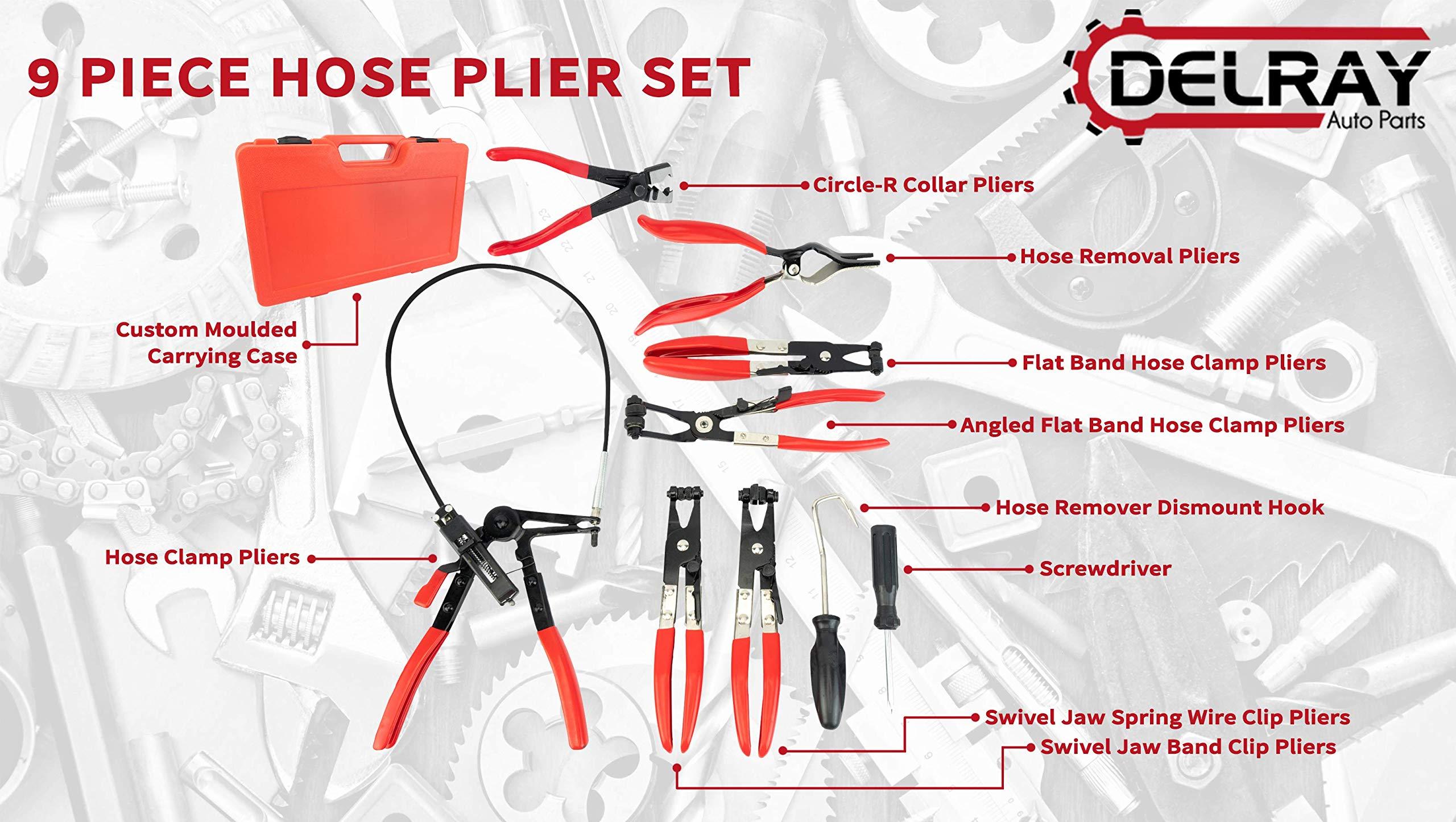 Delray Auto Parts 9pc Hose Plier Set by Delray Auto Parts (Image #3)