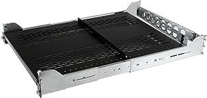 """StarTech.com 2U Vented Sliding Server Rack Shelf w/ Cable Management Arm - Adjustable Depth - 125lb - 19"""" Server Tray Shelf for Equipment Rack (UNISLDSHF19M)"""