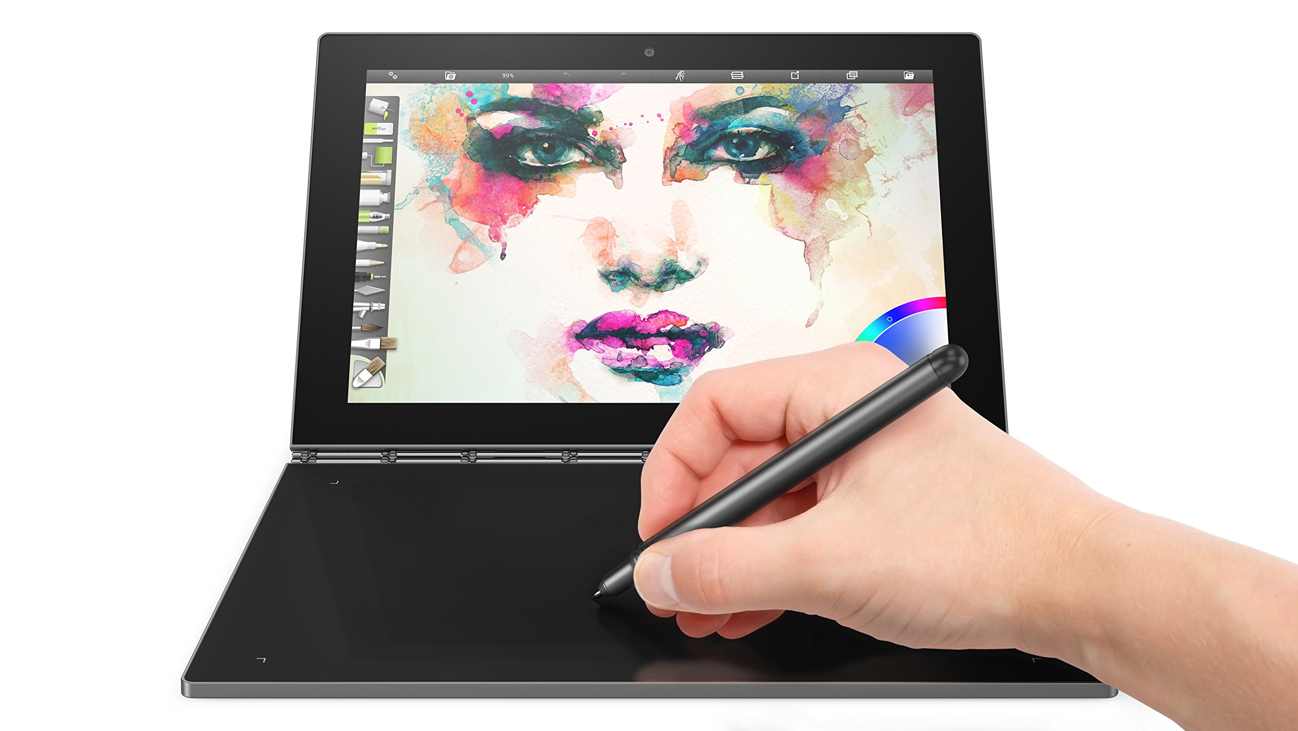 Lenovo Yoga Book - FHD 10.1'' Android Tablet - 2 in 1 Tablet (Intel Atom x5-Z8550 Processor, 4GB RAM, 64GB SSD), Gunmetal, ZA0V0035US by Lenovo