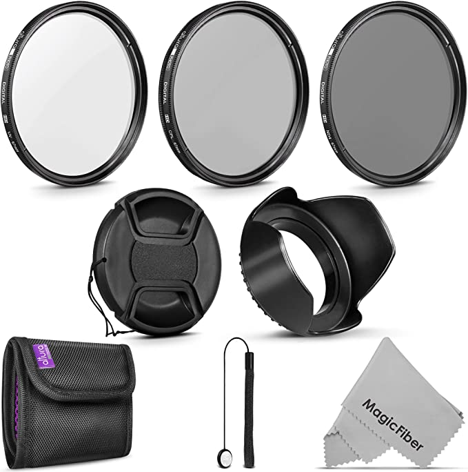 Filter Set for Pentax K-x UV1a, CPL, FLD 62mm High Grade Multi-Coated /& Threaded