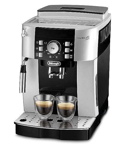 DeLonghi ECAM 21.116.SB Cafetera automática, granos de café, café molido, 1.8 L, 15 bares, 1450 W, negro y plateado
