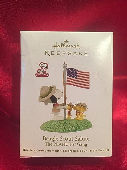 Amazoncom Beagle Scout Salute Peanuts 2012 Hallmark Ornament Home