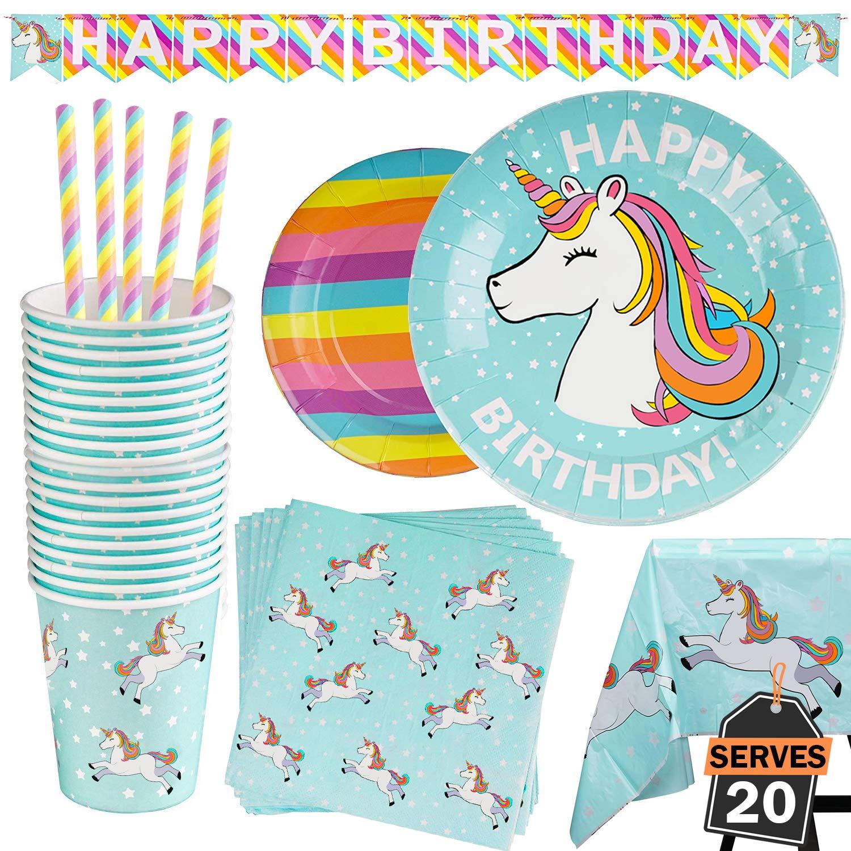 Unicorn Party Bundles for 20 Guests