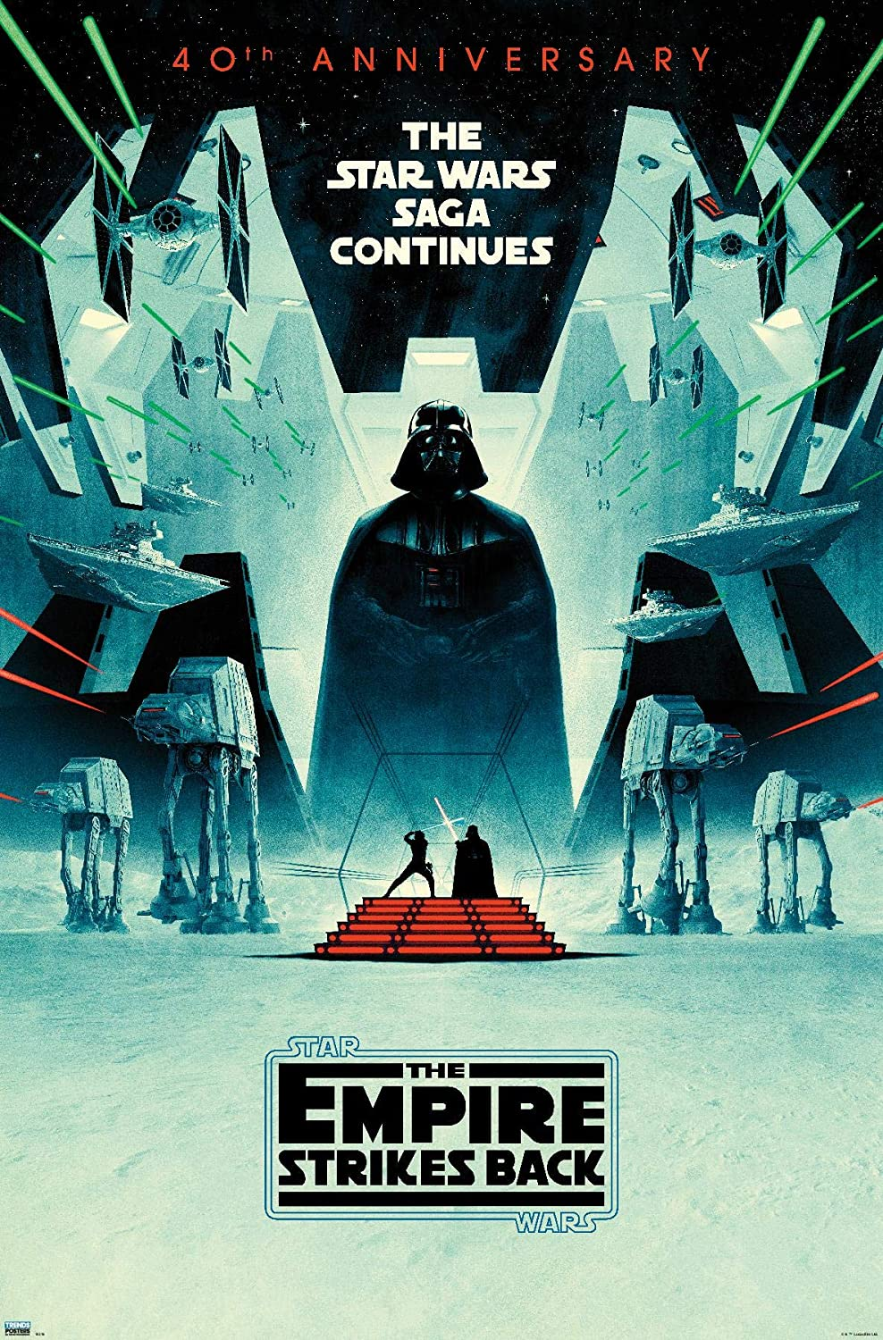 Trends International Star Wars The Empire Strikes Back 40th Anniversary Wall Poster 22 375 X 34 Premium Unframed Version Home Kitchen