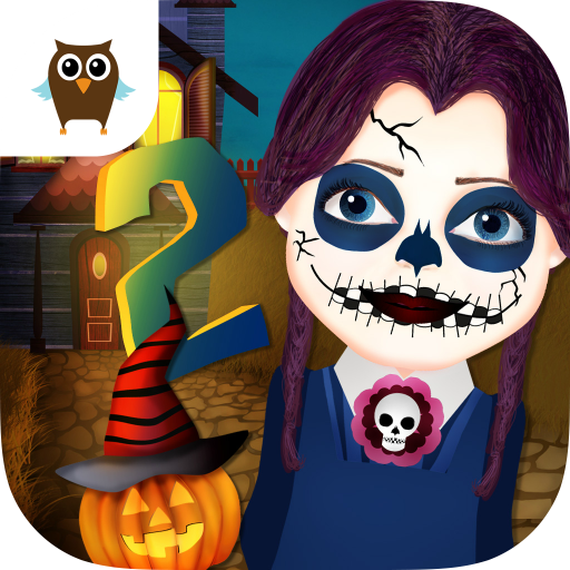 Funny Halloween Party 2 - Dress Up, Makeup, Nails & Pumpkin (Spooky Halloween Make Up Games)