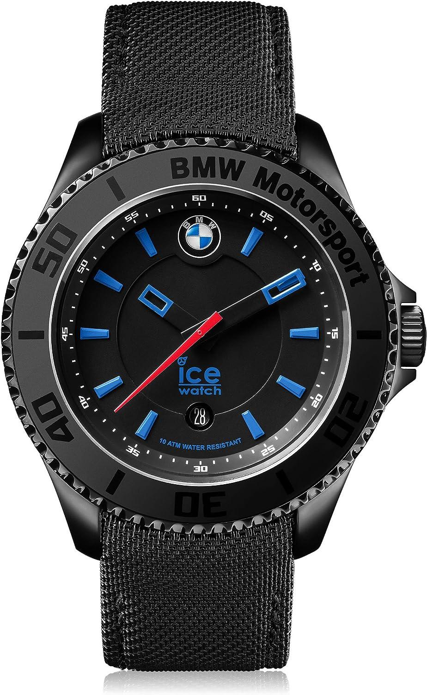 Ice-Watch - BMW Motorsport (Steel) Black - Reloj Negro para Hombre con Correa de Cuero