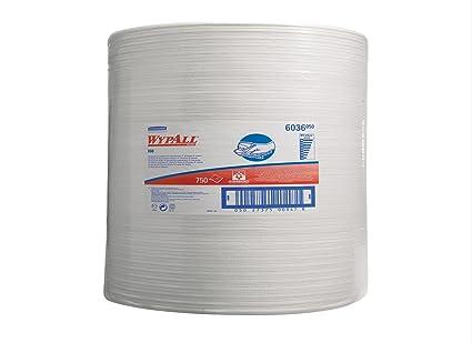 Wypall 6036 Paños, 1 Rollo Grande X 750 de 1 Capa, Blanco