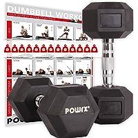 POWRX - Mancuernas hexagonales 2-30 kg - Revestimiento