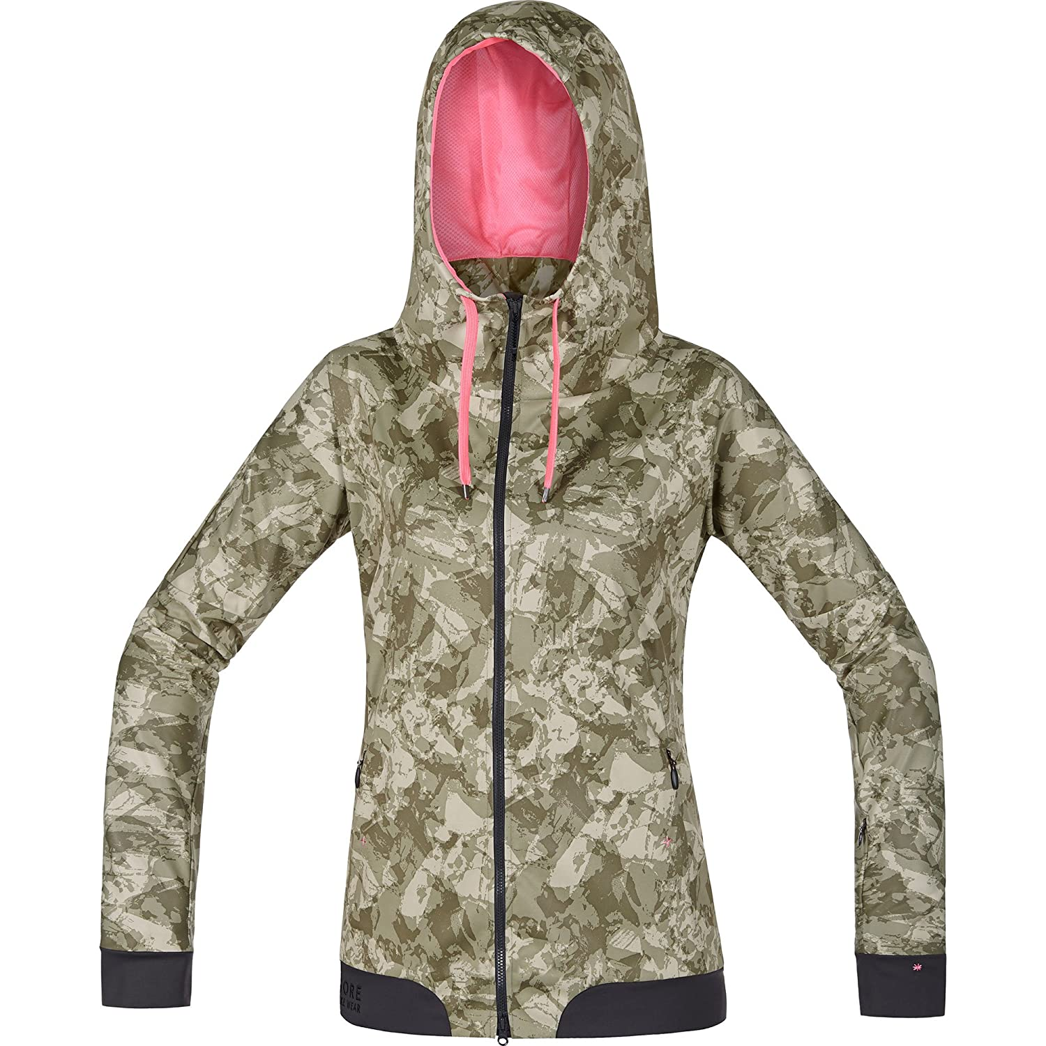 Gore Bike Wear Power Trail Print Windstopper Soft Shell - Chaqueta para Mujer, Color marrón: Amazon.es: Deportes y aire libre