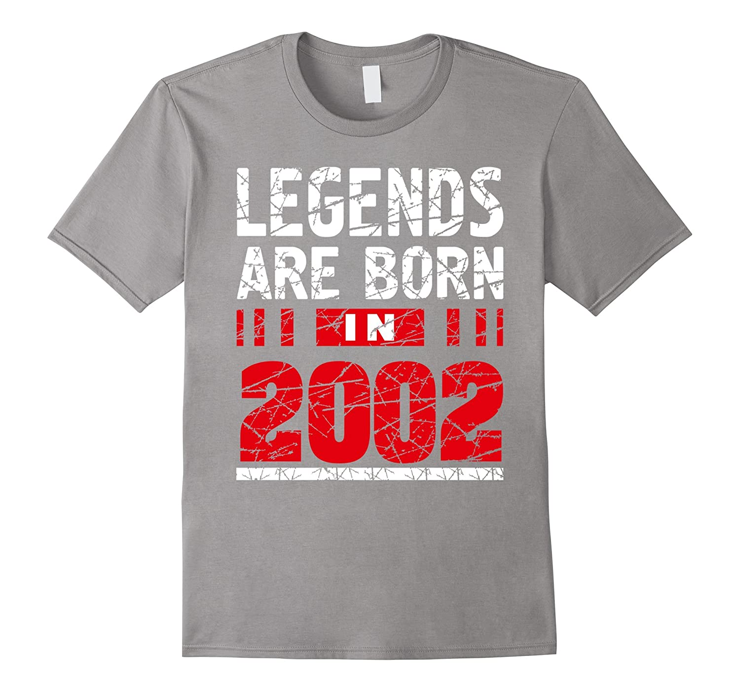 Legends born in 2002 tshirt 15 years old birthday gift for T shirts for 15 year olds