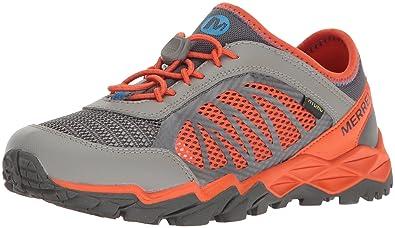 Merrell Hydro 2.0 Running Shoe, Grey/Orange, 10.5 M US Little Kid
