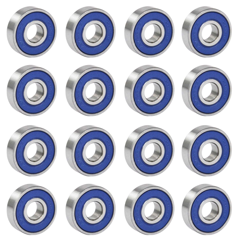TRIXES 16 Frictionless Abec 9 Skateboard Roller Skate Bearings