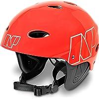 NP Surf Helmet Casco, Unisex Adulto, Rojo (Fluoro