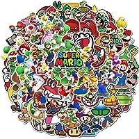 Pegatinas de Super Mario [100 Piezas] Anime a Prueba de Agua para portátil Botella de Agua Coche Taza Computadora…