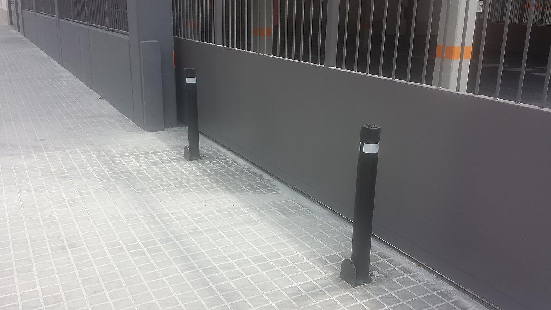 Pilona flexible de alta resistencia y flexibilidad negra 3 - Negras Bolardo flexible A-Flex con base extra/íble de pl/ástico
