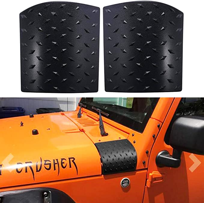 WYYINLI 2 Pack Black Cowl Body Armor Side Skin Point Cowling Cover fit Jeep Wrangler Accessories JK JKU/& Unlimited 2007-2018/  Orange