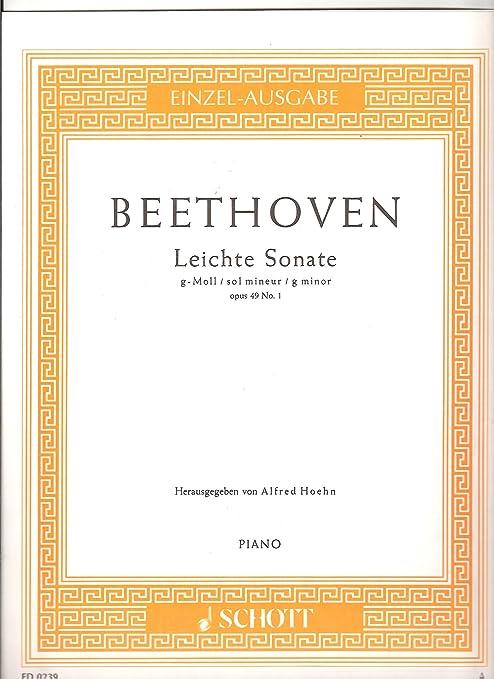 Leichte Sonata G Moll/sol menor Opus 49 N ° 1 Piano: Amazon.es ...